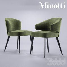 3d модели: Стулья - Minotti Aston Dining chairs Poltroncina