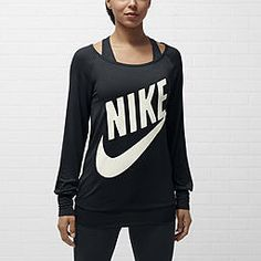 s top nike sportkleding, sport outfits, ni Nike Outfits, Sport Outfits, Nike Store, Nike Sportswear, Nike Logo, Long Sleeve Tops, Athletic Tank Tops, Athletic Wear, Clothes For Women