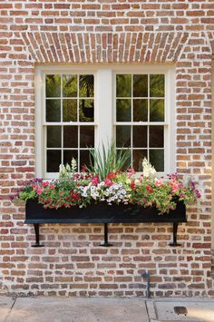 Looking for a simple, but high-impact gardening project? Consider revamping your window boxes. Beautiful gardens in miniature—that's the essential appeal of window boxes. Window Box Flowers, Window Planter Boxes, Planter Ideas, Garden Windows, Vintage Windows, Box Design, Design Ideas, Garden Projects, Colorful Flowers
