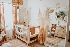 Boho Baby Nursery - Project Nursery - Boho has always been my favourite style so when it came to decorating my baby girls room it was an - Vintage Nursery, Baby Nursery Decor, Baby Bedroom, Nursery Neutral, Nursery Room, Girl Nursery, Project Nursery, Babies Nursery, Boho Nursery