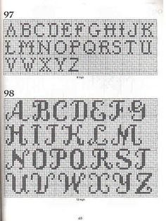101 Filet Crochet Charts 65 Green Things f. Filet Crochet Name Pattern, Crochet Letters Pattern, Filet Crochet Charts, Letter Patterns, Crochet Cross, Thread Crochet, Crochet Blanket Patterns, Free Crochet, Graph Crochet