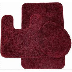 Layla 3 Piece Shag Bathroom Rug set  Bath mat Contour and Seat Cover Toilet Covers at Walmart Butt Fail Funny Pictures