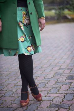 In love with florals. and of course green. always