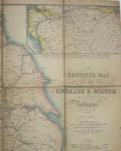 Cheffins-039-s-Map-of-the-Railways-of-England-amp-Scoland-amp-Wales-1845
