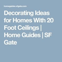 Decorating Ideas for...