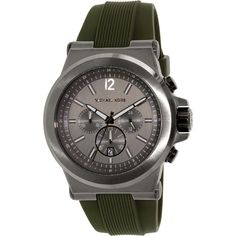 73c7369412e1 Shop for Michael Kors Men s  Dylan  Chronograph Green Rubber Watch. Get free  delivery at Overstock - Your Online Watches Store!