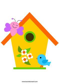 Sagome Primavera: casetta uccelli