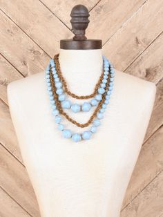 31 Bits Pippa Necklace in Ice Blue