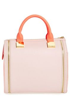 Pink Leather Tote Bag by Ted Baker London. Buy for $240 from Nordstrom