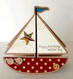 By Katie Gehring. Cut sailboat card.