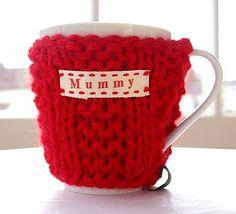 Red Personalised Mug Cosy