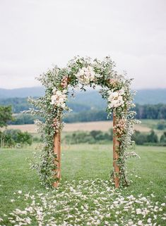 Spring wedding with classic shaded of blush and cream at Pippin Hill in North Garden, Virginia. Spring wedding with classic shaded of blush and cream at Pippin Hill in North Garden, Virginia. Wedding Ceremony Ideas, Wedding Arch Flowers, Wedding Venues, Wedding Themes, Flower Archway, Unity Ceremony, Wedding Colours, Wedding Ceremonies, Spring Wedding Decorations