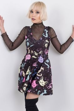 Crystal Space Kitties Happy Hour Dress – Living Dead Clothing
