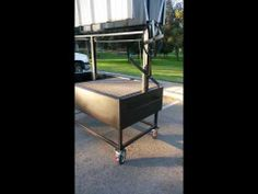 Santa Maria BBQ Grill Pit with collapsible roof top. Perfect for catering, comercial bbq, and the everyday Barbecuer. Made by JD FABRICATIONS here in USA Wood Grill, Bbq Grill, Outdoor Grilling, Outdoor Cooking, Santa Maria Bbq, Roof Top, Grills, Food Truck, Catering