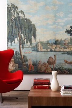 Historical wallpaper panel from historian Carolle Thibaut-Pomerantz.
