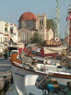 Greece Travel Inspiration - Aegina Town in the Saronic Gulf Islands from www.Greece-Travel...