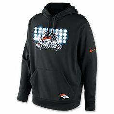 Men's Nike Denver Broncos NFL Glove Lockup Hoodie| FinishLine.com | Black