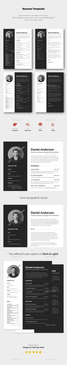 Infographic Resume/Cv Volume 7 Clean, minimalist, and beautiful - different resume templates