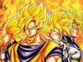 team of saiyans - dragon-ball-z wallpaper