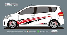 Sticker Mobil Sorong, Suzuki Ertiga Sticker Desigm.  TRIBAL GRAPHICS jln. Trikora,Transad,Aimas Kab.Sorong Papua Barat Call/SMS/WA (0852-5434-4693)  #TribalGraphics #CuttingSticker #3DCuttingSticker #Decals #Vinyls  #Stripping #StickerMobil #StickerMotor #StickerTruck #Wraps  #AcrilycSign #NeonBoxAcrilyc #ModifikasiMobil #ModifikasiMotor #StickerModifikasi  #Transad #Aimas #KabSorong #PapuaBarat Sticker Design, Van, Vehicles, Car Stickers, Car, Vans, Vehicle, Vans Outfit, Tools