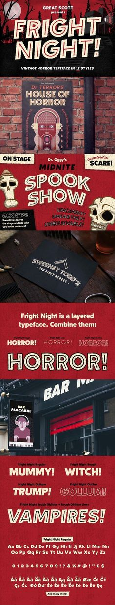 Fright Night! A vintage horror font by Great Scott on @creativemarket