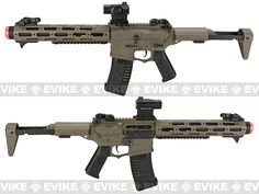 """Pre-Order Estimated Arrival: 10/2014 --- ARES Amoeba AM-013 12"""" M4 Carbine Airsoft AEG - Dark Earth, Pre-order / Preview - Evike.com Airsoft Superstore"""