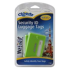 Cloudz Security Luggage ID Tags  Lime Green *** Click on the image for additional details.Note:It is affiliate link to Amazon.