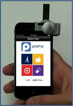 Nutriphone- a smartphone accessory developed at Cornell University by two PhD students, enables users to test cholesterol levels, saliva pH, vitamin deficiency and more,
