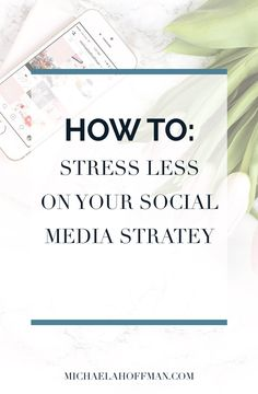 strategy for your business how to create a plan that gives you more freedom and reduces stress // Michaela hoffman Marketing Digital, Content Marketing, Online Marketing, Social Media Marketing, Social Media Content, Social Media Tips, Business Tips, Online Business, Web Design