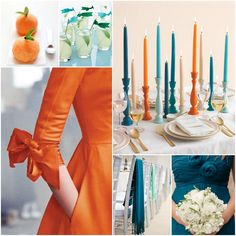 orange blue color schemes | Wedding Wednesday Wonders: Bold Winter Inspiration | A Realistic ...