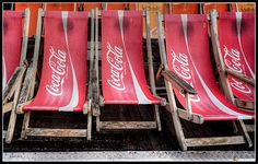 Coca-Cola deck chairs