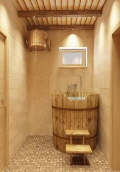 Easy And Cheap Diy Sauna Design You Can Try At Home 32 gestalten Small Basement Design, Small Basement Bathroom, Bathroom Plans, Bathroom Ideas, Design Bathroom, Modern Basement, Diy Sauna, Sauna Ideas, Sauna Steam Room