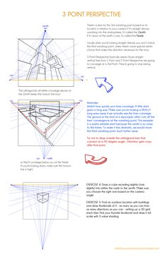 A Three Point Perspective Drawing Tutorial for Art Students by Hannah Viera Perspective Drawing Lessons, Perspective Sketch, Storyboard, Three Point Perspective, Architecture Concept Drawings, Art Worksheets, Learn Art, Drawing Techniques, Drawing Tips