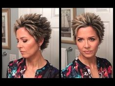 Hair Tutorial - Styling Idea for Longer Pixie Short Spiky Hairstyles, Wedge Hairstyles, Trendy Hairstyles, Short Haircuts, Asymmetrical Hairstyles, Short Hair Cuts For Women, Short Hair Styles, Pixie-cut Lang, Stacked Haircuts