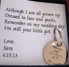 This is beautiful, I'm going to get one made for my dad for when he walks me down the aisle