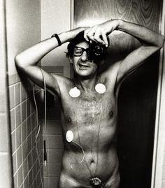 Helmut Newton - original photo cropped. Taken in hospital while having an ECG.