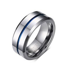 Cheap tungsten carbide ring, Buy Quality carbide ring directly from China ring for Suppliers: KUNIU Fashion Mens Tungsten Carbide Rings for Men Matte Wedding Band with Silver Blue Groove & Inner Biker Jewelry Dropshipping Wedding Men, Wedding Rings, Wedding Jewelry, Wedding Engagement, Engagement Bands, Tungsten Carbide Rings, Tungsten Karbür, Tungsten Wedding Bands, Silver Man