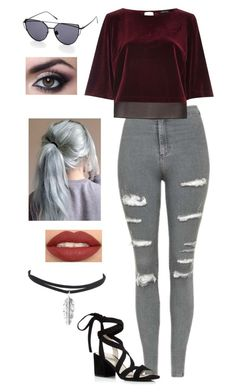 """""""Untitled #579"""" by sunnywinterday on Polyvore featuring Topshop, River Island and Kenneth Cole"""