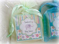 Baby  Boy Shower Favors, Soap Favors, Elephant Baby Shower Favors,  set of 10