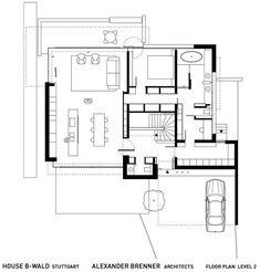 House B-Wald by Alexander Brenner Architekten _ first floor plan Dream House Plans, House Floor Plans, Alexander Brenner, Tiny House, Craftsman Floor Plans, Piscina Interior, Cubes, International Style, Architecture Plan