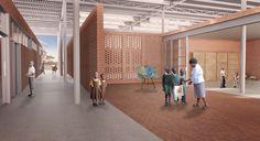 Img.6 Selldorf Architects, 14+ Foundation and Rashid Johnson, Mwabwindo School, Zambia, 2017. Render