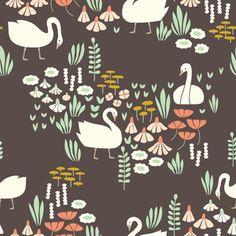 Elizabeth Olwen - Park Life - Royal Swans in Brown