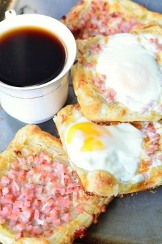 """<p>This easy and finger-licking-delicious breakfast pastry features flaky puff pastry topped with honey ham, sharp white cheddar cheese and eggs. <a href=""""http://www.willcookforsmiles.com/2015/02/ham-egg-cheese-breakfast-pastry.html"""" target=""""_blank"""">Get the recipe HERE</a>.</p>"""