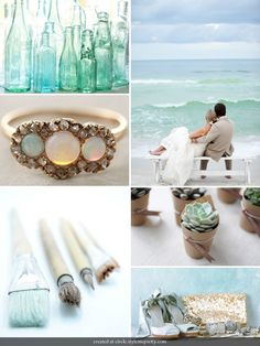 Colour palette: blue green and between.