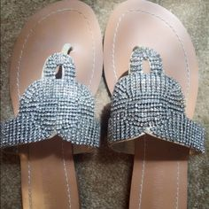 Colin Stuart Sandals Great flats !!! With lots of bling ⭐️⭐️ kept in original package ...very pretty for summer  Colin Stuart Shoes Sandals