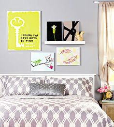 Artwork doesn't have to be expensive! Personalize your at-home wall gallery (and save money) by making the pieces yourself. Find DIY artwork tips and project ideas here.