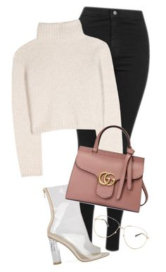 """Untitled #806"" by pocaondasxx ❤ liked on Polyvore featuring Topshop, The Row and Gucci"