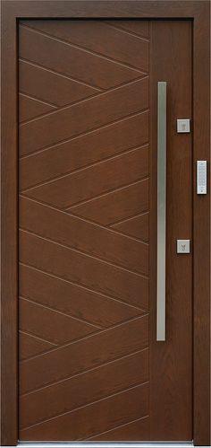 Dębowe wejściowe drzwi zewnętrzne 430,14 orzech