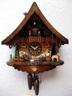 Reloj de Cuco Stugart   Material: Madera de Pino   Reloj de Cuco de cuarzo