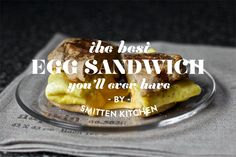 Egg with cheese inside.  Update on the old standby! From Smitten Kitchen